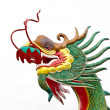Chinese style dragon statue at wat mung — Photo