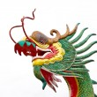 Chinese style dragon statue at wat mung — Стоковая фотография