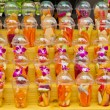 Stock Photo: Fruit in plastic glass for induces to do fruit juice spins