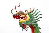 Chinese style dragon statue at wat mung — Stock Photo
