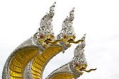 King of naga at Muang temple Aungthong Thailand — Stock Photo