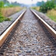 Straight railroad track — Stock Photo