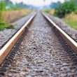 Straight railroad track — Stockfoto