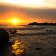 Sunset at chea chang island chonburi thailand. — Stock Photo