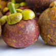 Stock Photo: Tropical fruit, mangosteen