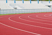 New running track and grandstand. — Stockfoto