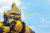 Demonio moldeada figura el templo — Foto de Stock