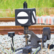 Old railway switching device — Foto de Stock