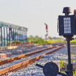 Old railway switching device — Stock Photo