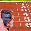 Stopwatch in athletics field — ストック写真