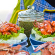 Roasted shrimps with garlic and parsley — Stockfoto #34704725