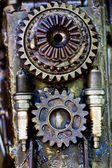Supplies for industrial, technology gears Background — Stock Photo