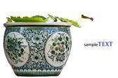 китайский античный горшок — Стоковое фото