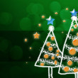 Shinny Christmas Tree, abstract background — Stock Photo #36048147