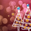 Shinny Christmas Tree, abstract background — Stock Photo #36048213