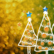Shinny Christmas Tree, abstract background — Stock Photo