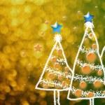 Shinny Christmas Tree, abstract background — Stock Photo