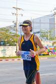 CHONBURI, THAILAND - DESEMBER 16: Unidentified runner competes o — Stock Photo