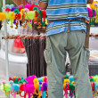 Stall sells a doll animal at thailand — Foto Stock