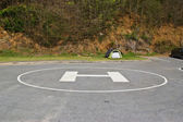 Heliport for helicopter in the park — Stock Photo
