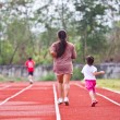 Family runs to exercise — Stockfoto #36358833