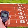 Stopwatch in athletics field — Stock Photo #36371105