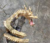 Chinese style dragon statue at chonburi — Stock Photo