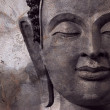 Buddha face makes of wax — Stock Photo