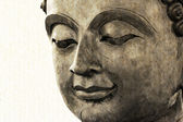 Buddha face makes of wax — Zdjęcie stockowe
