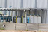Детали клапан или насос, который является частью комплекса промышленных — Стоковое фото