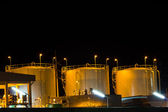 "Night scene of chemical plant , ""chonburi industrial"" , Eastern — Photo"
