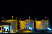 "Night scene of chemical plant , ""chonburi industrial"" , Eastern — Stock Photo"