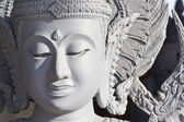 Ancient Buddha face, Ayutthaya, Thailand — Stock Photo