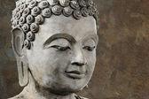 Faccia di buddha fa di cera — Foto Stock