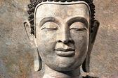 古佛脸,大城府,泰国 — 图库照片