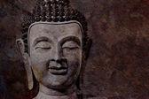 Ancient Buddha face, Ayutthaya, Thailand — Stock Photo
