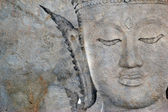 Ancient Buddha face, Ayutthaya, Thailand — Stockfoto