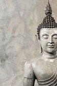 Alten buddha gesicht, ayutthaya, thailand — Stockfoto