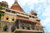 Pagoda on blue sky at chonburi thailand. — Stock Photo