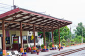 The railroad at chon buri thailand — Stock Photo