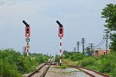 The railroad at chon buri thailand — Stock Photo