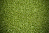 Artificial rolled green grass — Stock Photo
