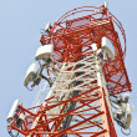 Radio Relay Link, Mobile Base Station. — Stock Photo