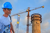 Building water supply construction — Stock Photo