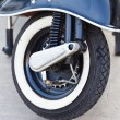 Wheel of big motorcycle. — Stock Photo
