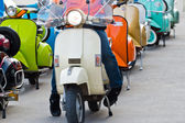 Modern classic scooter at thailand — Stok fotoğraf
