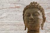 石の仏戦士像アユタヤ — ストック写真