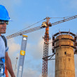Building water supply construction — Stock Photo #37841425
