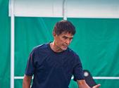 Coach tennis — Stock Photo