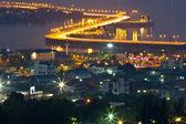 City highway of chonburi thailand at night — Stock Photo